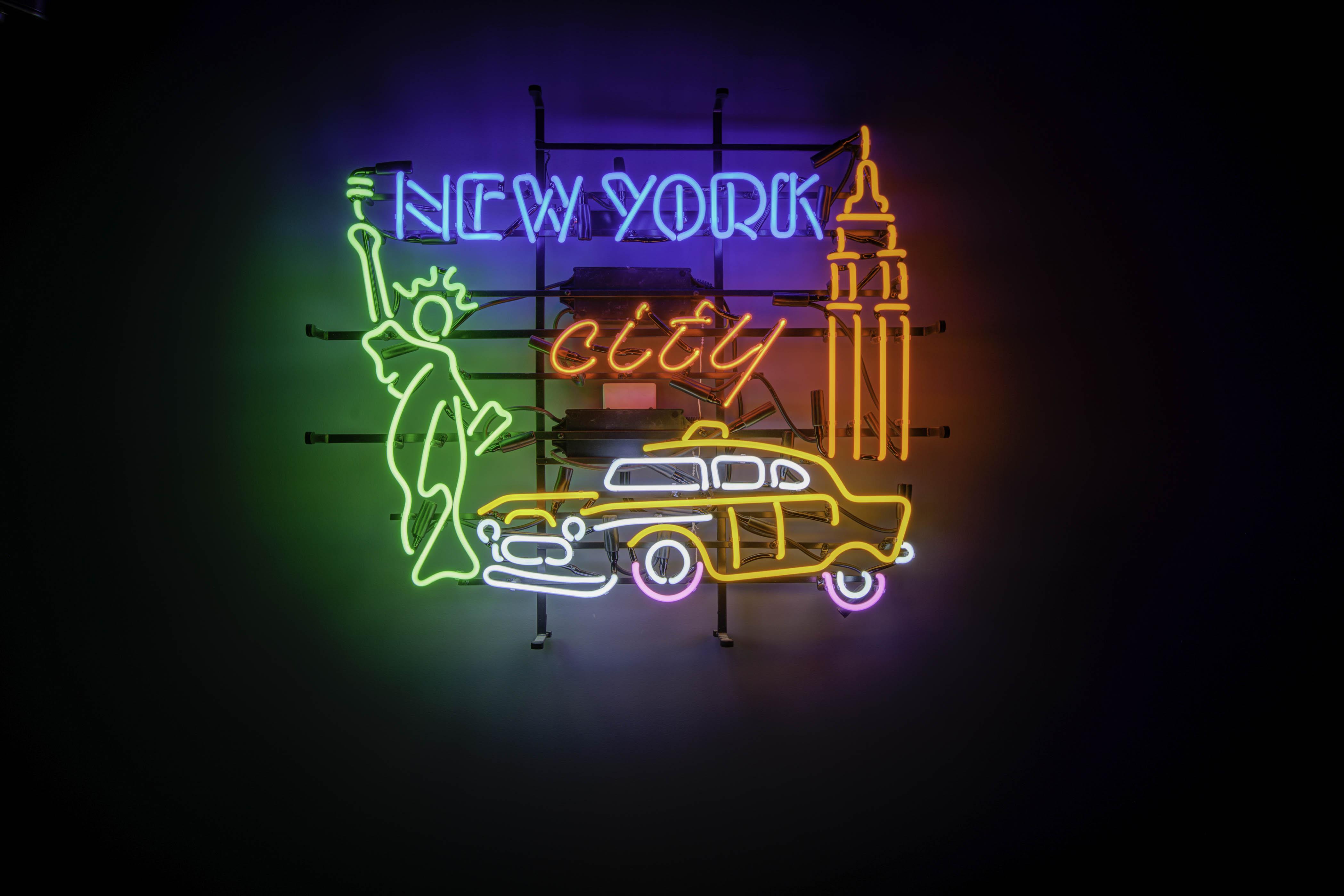 Eclairage d'ambiance du box New York du Karioka, néon