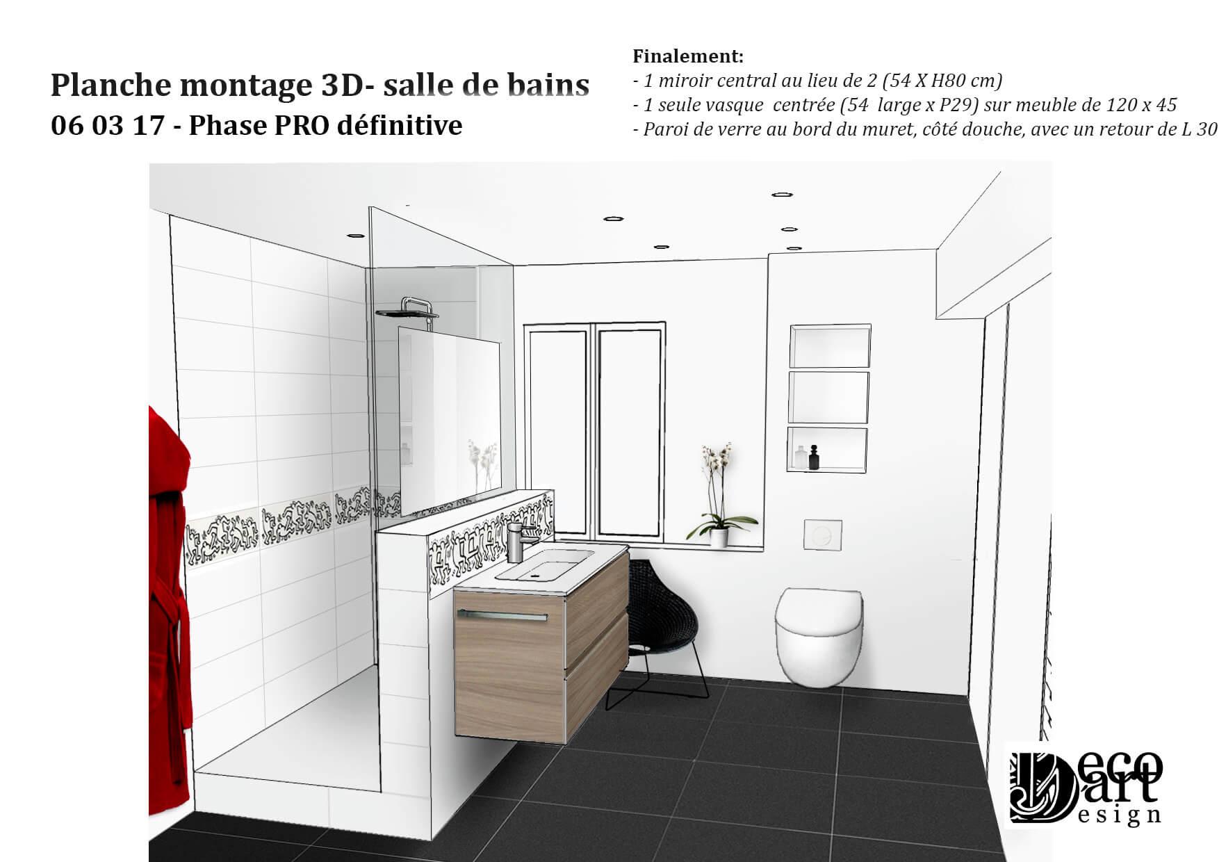 Salles de bains et sanitaires decodart for Projet salle de bain 3d