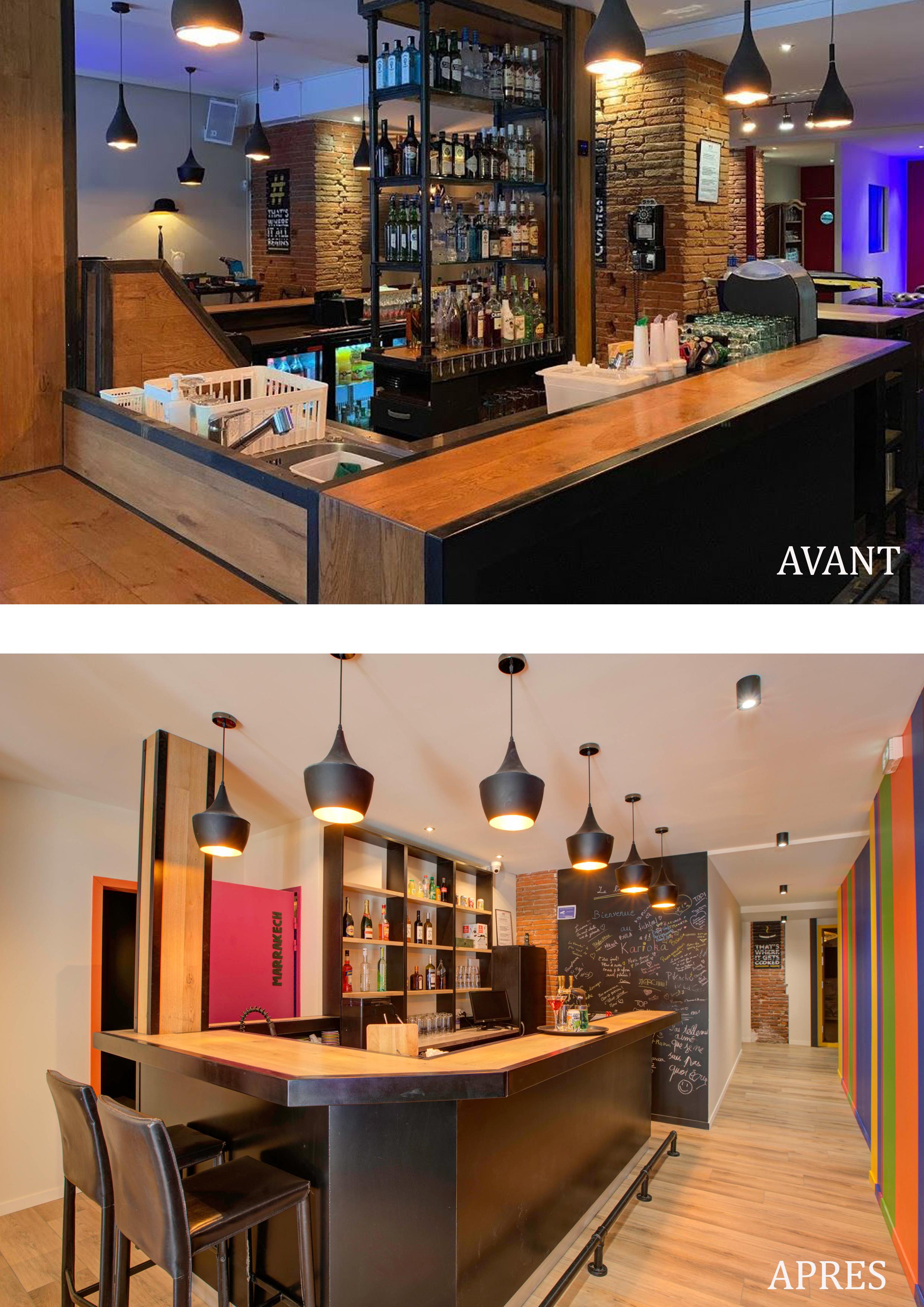 Transformation d'un bar classique et bar karaoké box en 2020