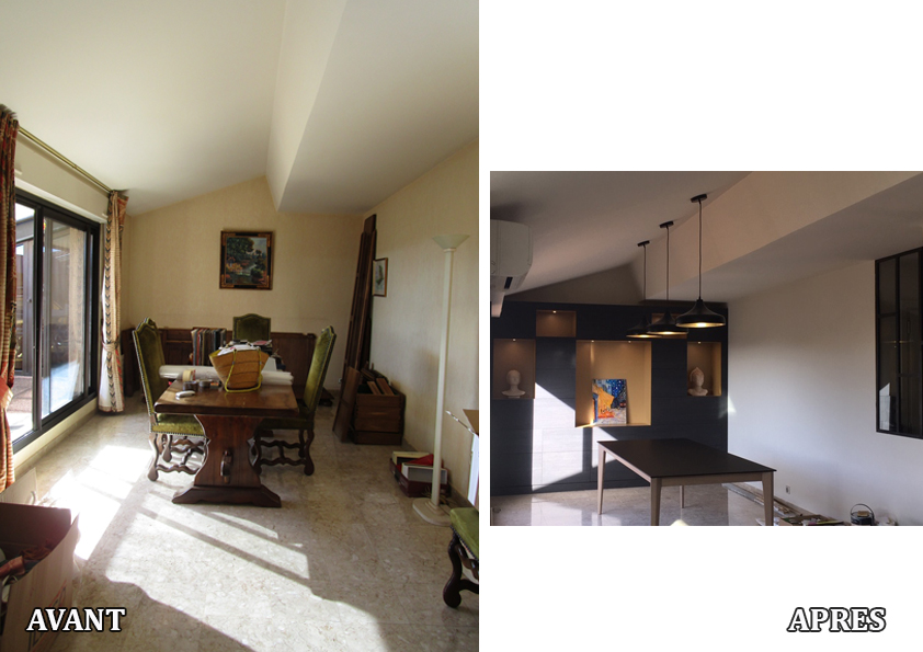 Rénovation complète d'un appartement de 100 m² avec création de mobilier sur mesure
