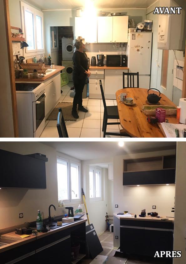 Rénovation globale d'un appartement des années 60, énergétique, décoratif, et d'aménagement 2020