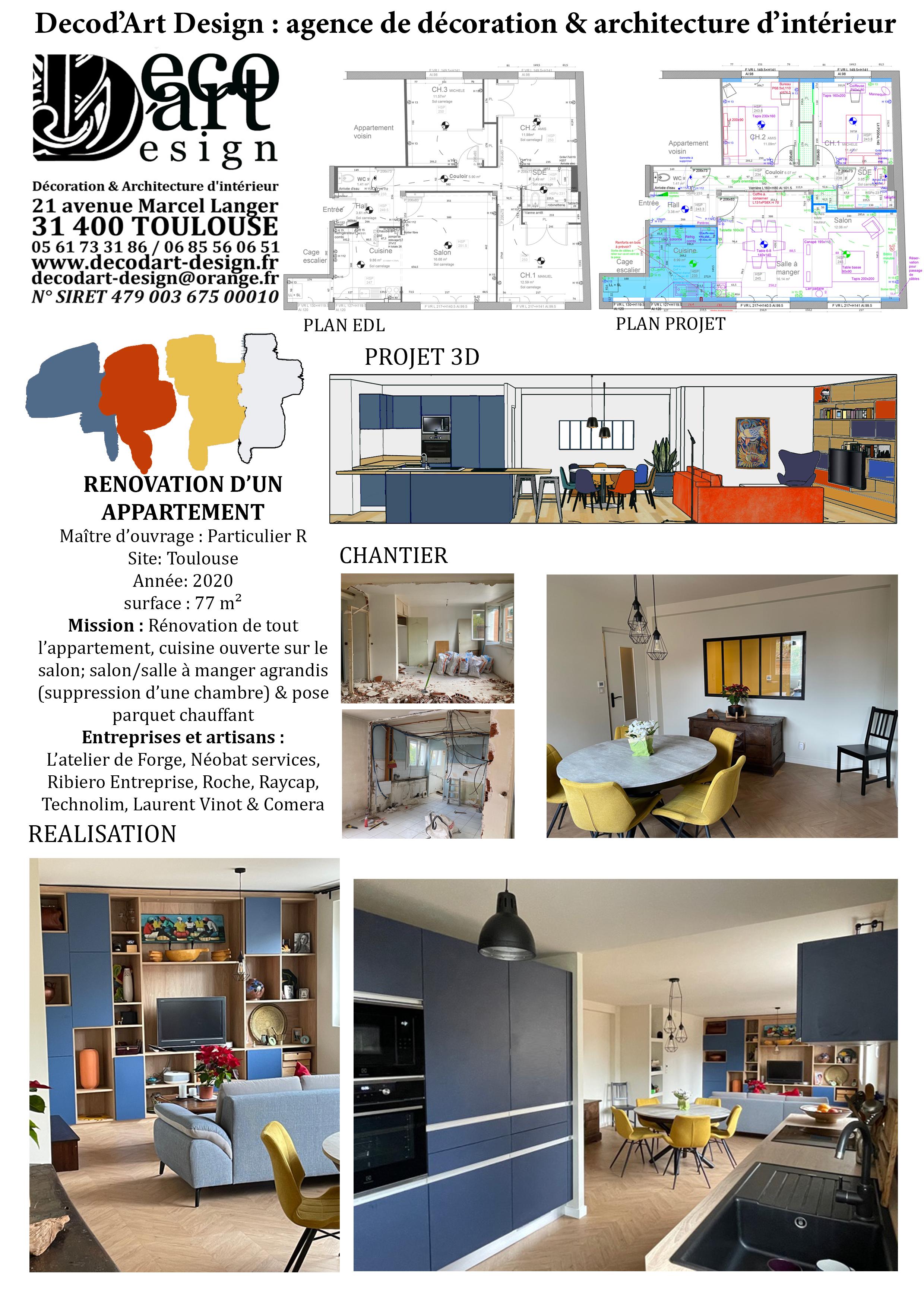 Projet rénovation appartement